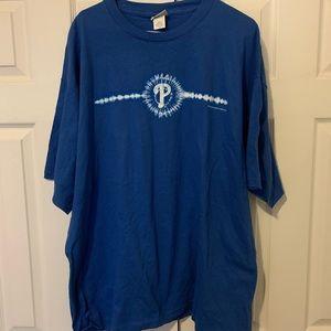 Vintage 2002 Philadelphia Phillies Tie Dye Logo T
